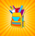 Full backpack vector image