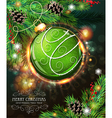 Green Christmas bauble vector image vector image