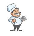 happy chef cartoon mascot clipart vector image vector image