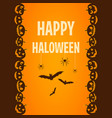 happy halloween poster ticket template vector image vector image