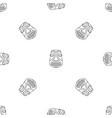 hawaii idol pattern seamless vector image vector image