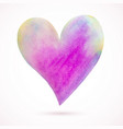 heart-pink-yellow-blue vector image vector image