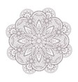 henna paisley tatoo mandala Mehndi style vector image vector image
