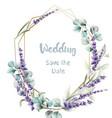lavender card watercolor vector image vector image