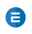 letter e icon design blue circle web icon vector image vector image