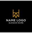 letter w leaf logo vector image vector image