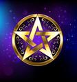 Magic Gold Star vector image vector image