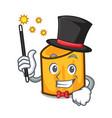 magician rigatoni mascot cartoon style vector image vector image