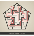 maze labyrinth with solution vector image