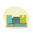 modern hospital building healthcare system vector image