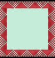 norwegian traditional ornament square frame with vector image vector image