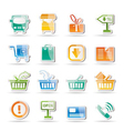 online shop icons vector image vector image