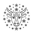 ox chinese zodiac sign vector image vector image