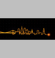 philadelphia light streak skyline vector image