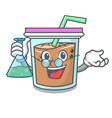 professor bubble tea character cartoon vector image vector image