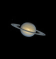 realistic planet Saturn vector image
