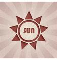 retro sun vector image