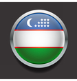 Round flag of Uzbekistan vector image vector image