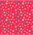 seamless kid floral pattern vector image