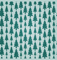 seamless pattern with fir trees and snowflakes vector image