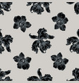 seamless pattern with hand drawn stylized orchid vector image