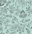 Seamless pattern with herbs light green background vector image vector image