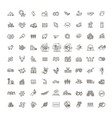set agriculture and farming line icons