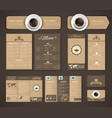 Set coffee corporate identity vector image vector image