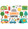 set isolated summer camping elements part 1 vector image vector image