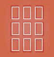 set of flat frames with mesh shadow vector image vector image