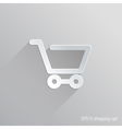 Shopping Cart Flat Icon Design vector image