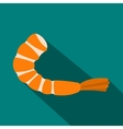Shrimp icon in flat style vector image vector image