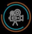 simple video camera thin line icon vector image