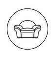 soft chair line icon vector image