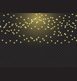 sparkling christmas lights background vector image vector image
