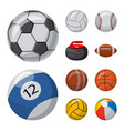 sport and ball symbol vector image