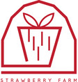 strawberry farm simple icon design template vector image