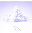 stylized mountain for skiing vector image vector image
