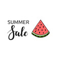 summer sale calligraphy watermelon background vector image vector image