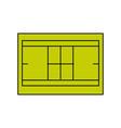 tennis field symbol vector image vector image