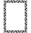 thai pattern frame vector image vector image