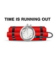 time bomb with red dynamite and stopwatch vector image