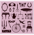 Vintage Objects and Icons vector image vector image
