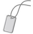 Blank metallic identification plate vector image