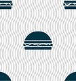 Hamburger icon sign Seamless pattern with vector image