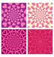 Geometric Background Set Heart Butterfly vector image