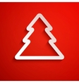 Simple christmas tree eps10 vector image