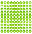 100 e-commerce icons set green vector image vector image