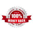 100 prozent money back button vector image vector image