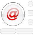 Arroba white button vector image vector image